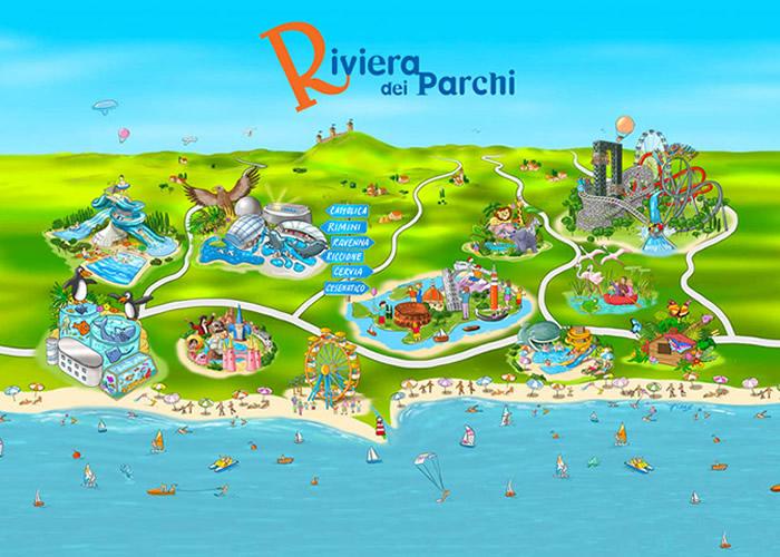 La riviera dei parchi in Romagna